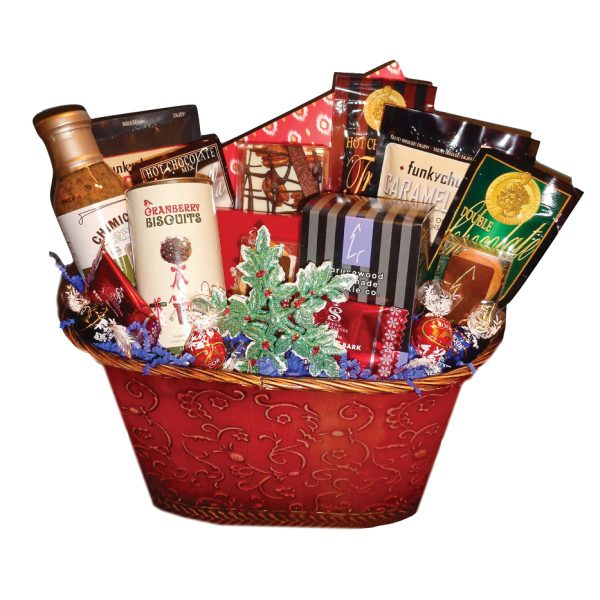 time is money Xmas small basket