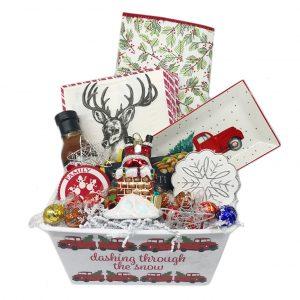dashing through the snow christmas basket time is money