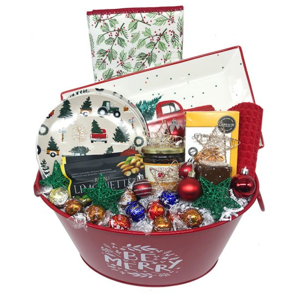 Holidays truck christmas basket time is money