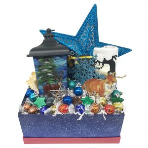 lantern blue christmas basket time is money