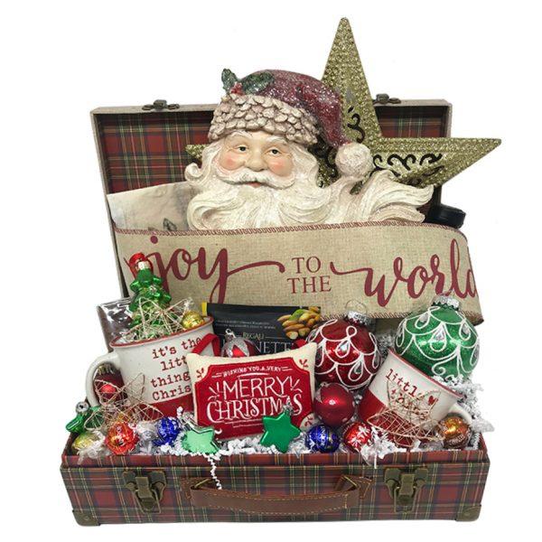 joy to the world santa christmas basket time is money